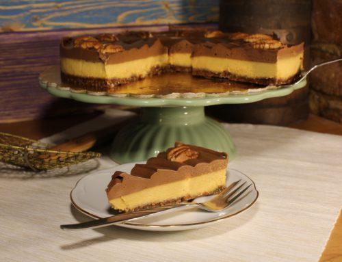 Broskyňovo-čokoládová raw torta