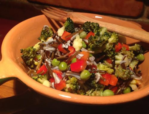 Rizoto z divokej ryže s marinovanou zeleninou